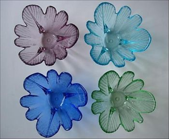 Flower glass bowl