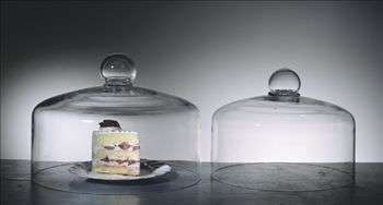 Glass cake dome