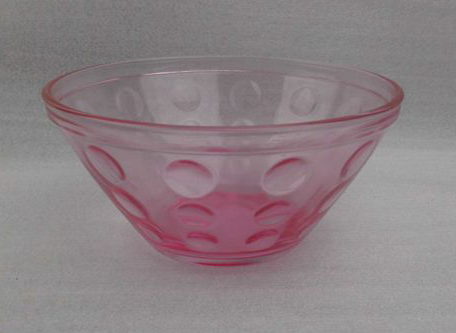 Pink glass bowl