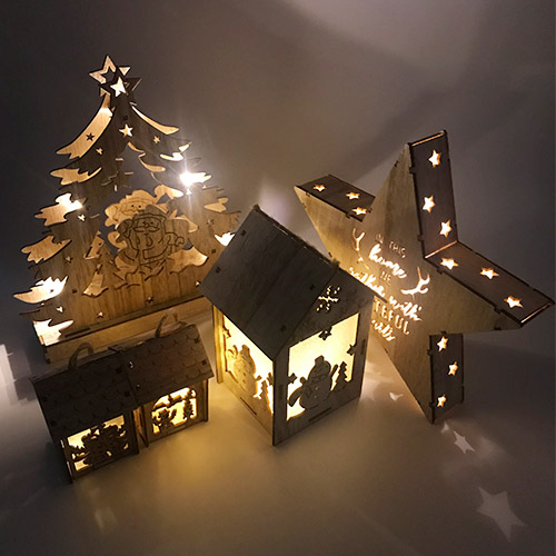 LED Christmas House Crafts