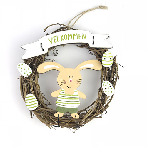 Rabbit wreath hanging decoration