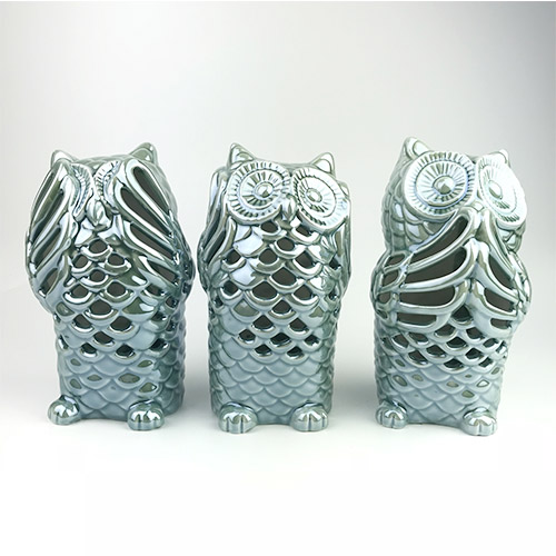Blue Ceramic Owl Crafts